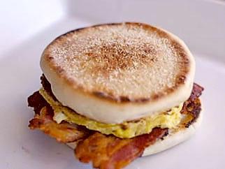 Breakfast Sandwich on Griddle Top