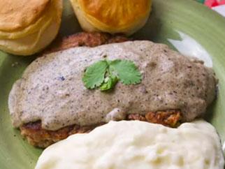 Chicken Fried Steak on Griddle Top