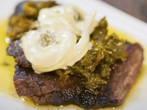 Churrasco with Chimichurri on Griddle Top