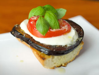 Eggplant Sandwich on the Griddle Top
