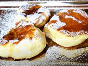 Japanese Soufflé Pancakes on Griddle Top