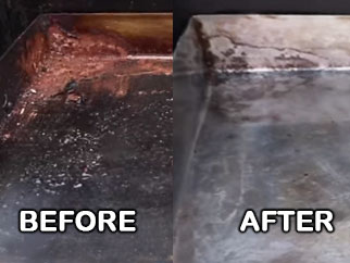 Rust Removal From Griddle Top
