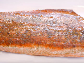Salmon on the Griddle Top